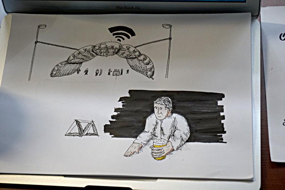 postcity bar sketch by Diego